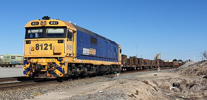 Pacific Nationals 81 class 8121 at Perth Freight Terminal ready to shunt wagons on the 4th June 2019