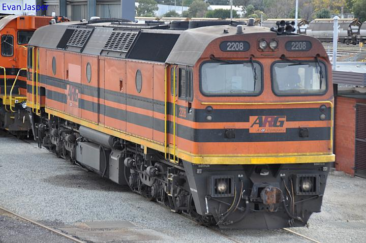 2208 at Forrestfield Yard on the 17th July 2011