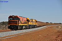 P2503, DFZ2406 and P2510 on 7723 loaded iron ore train just south of Bell crossing loop on the 1st December 2012