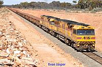 AC4301 and AC4306 on 1414 empty iron ore train seen here approaching Binduli for a crew change on the 20th September 2015