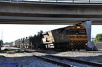 AC4303 on 4430 Sulphur train seen here departing Forrestfield for Kwinana on the 9th July 2015