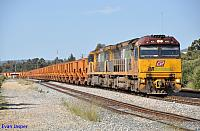 ACA6002 and ACA6011 departs Forrestfield Yard on 1030 loaded Iron Ore train for Kwinana on the 21st October 2012