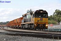 ACA6009 on 5030 loaded MRL iron ore train seen here departing Forrestfield for Kwinana on the 15th May 2014