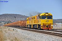 ACC6031 and ACC6030 on 5030 loaded iron ore train at Midland on the 7th march 2013