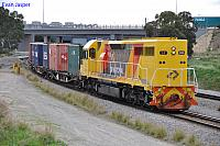 LZ3106 on 6196 container train at Forrestfield South on the 9th August 2013