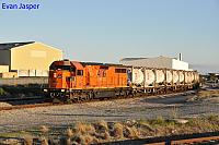 LZ3109 on 4197 loaded cement and lime train seen here at Forrestfield south on the 2nd August 2017