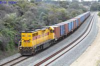 LZ3112 on 5193 container train seen here heading though Spearwood on the 7th September 2017