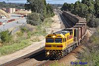 Q4006 on 7430 Sulphur train seen here heading though High Wycombe for Kwinana on the 21st December 2014