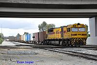 Q4010 on 4430 Sulphur train seen here heading though Forrestfield South on 31st August 2017