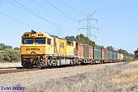 Q4011 on 5430 Sulphur train seen here heading though Stratton for Kwinana on the 20th March 2015