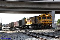 Q4015 on 2430 Sulphur train seen here departing Forrestfield for Kwinana on the 11th August 2015
