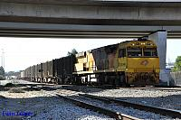 ACB4406 on 3430 Sulphur train seen here departing Forrestfield for Kwinana on the 8th July 2015