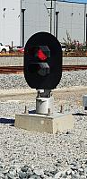2 Aspect LED Ground Mount Shunt Signal (Signal 20) This Type of signal is control by Train Control