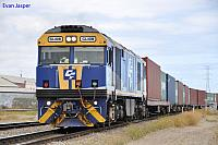 GL108 on 1417 Balco train at dry Creek on the 29th January 2013