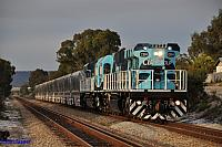 CBH004 and CBH009 on 6K04 transfer movement from MGC Forrestfield to Kwinana at Thornlie on the 24th August 2012
